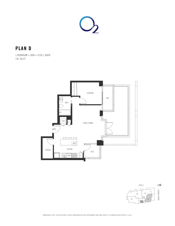 o2 plan d 1 bed  den  flex 718 sqft (PDF)