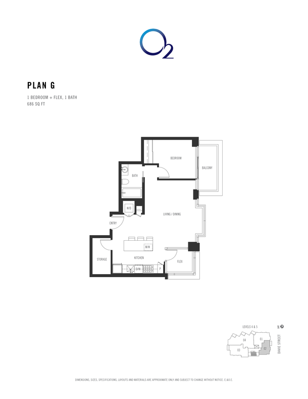 o2 plan g 1 bed flex 664 sqft (PDF)