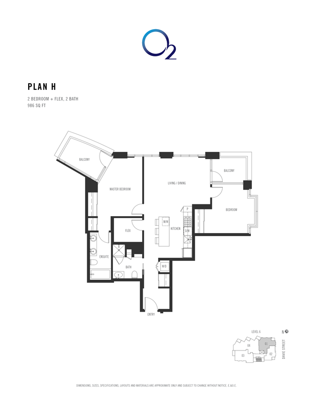 o2 plan h 2 bed  2 bath  flex 955 sqft (PDF)