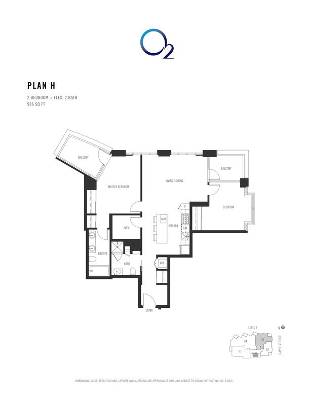 o2 plan h 2 bed  2 bath  flex 955 sqft (PDF)