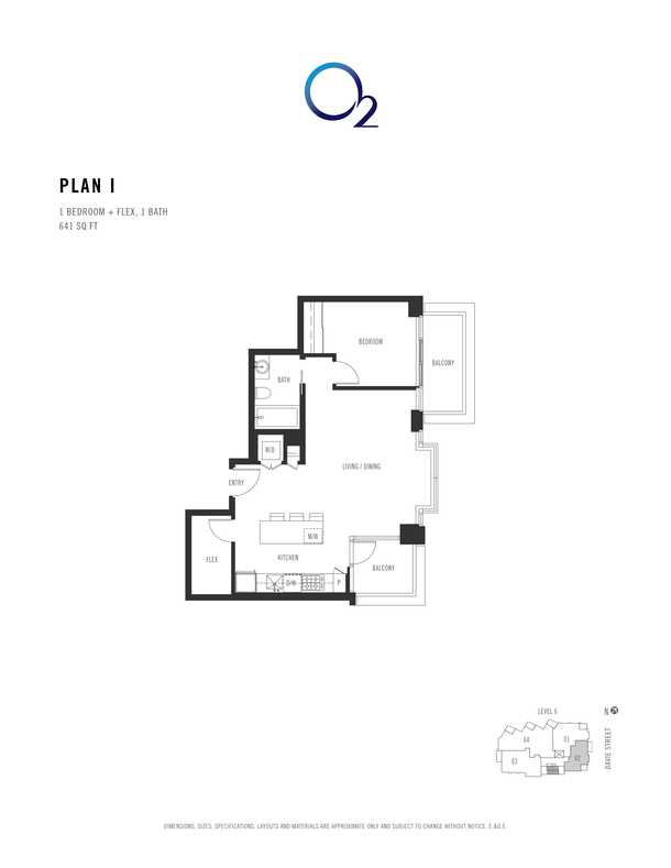 o2 plan i 1 bed  flex 621 sqft (PDF)