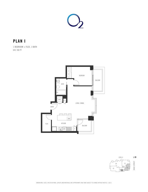 o2 plan i 1 bed  flex 621 sqft (PDF)