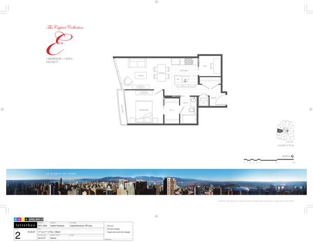 floor 31 to 34  plan 04  1 bedroom 596 sf (PDF)