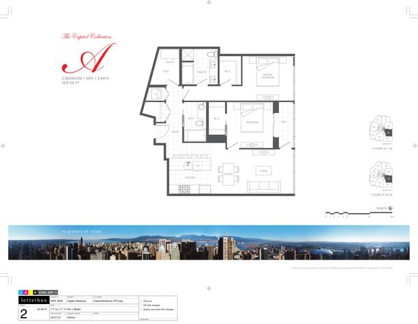 floor 31 to 36  plan 01  2 bedroom and den 1010 sf (PDF)