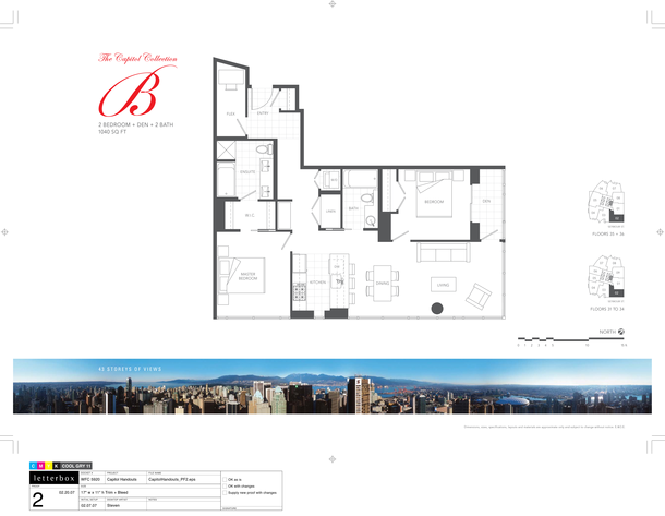 floor 31 to 36  plan 02  2bedroom and den 1040sf (PDF)