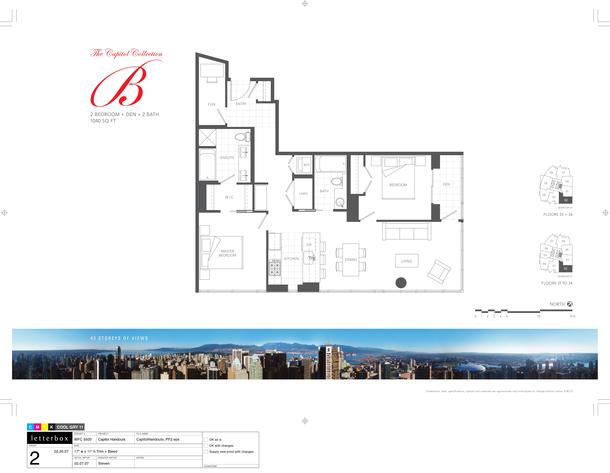 floor 31 to 36  plan 02  2bedroom and den 1040sf (PDF)