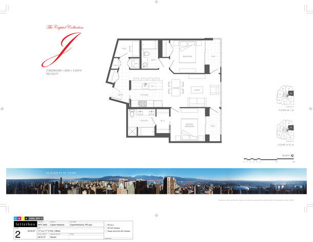 floor 31 to 36  plan 09  08  2bedroom and den 959 sf (PDF)