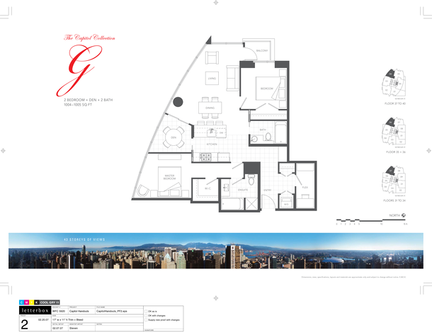 floor 31 to 40  plan 07  06  04  2bedroom and den 1005 sf (PDF)