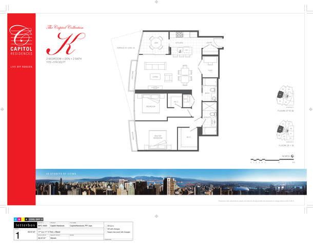 floor 35 to 40  plan 05   03  2 bedroom and den 1174 sf a (PDF)