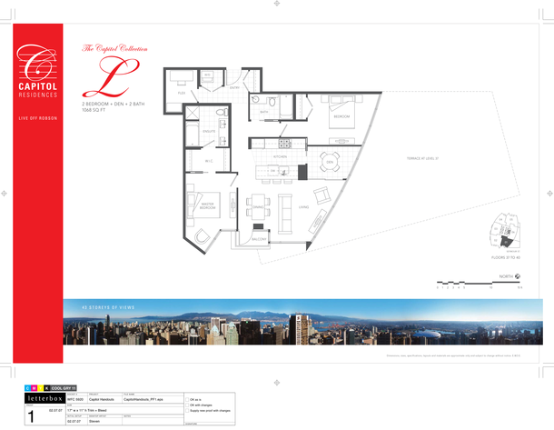 floor 37 to 40 plan 01 2 bedroom and den 1068 sf   terrace (PDF)