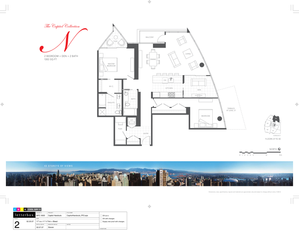 floor 37 to 40 plan 05  2 bedroom and den 1383 sf (PDF)