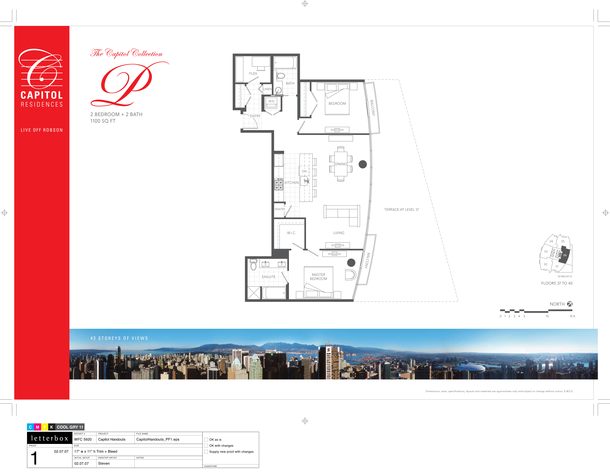 floor 37 to 40 plan 06 2 bedroom and den 1100 sf   terrace (PDF)