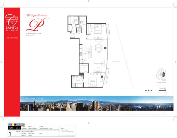 floor 37 to 40 plan 06 2 bedroom and den 1100 sf   terrace (PDF)