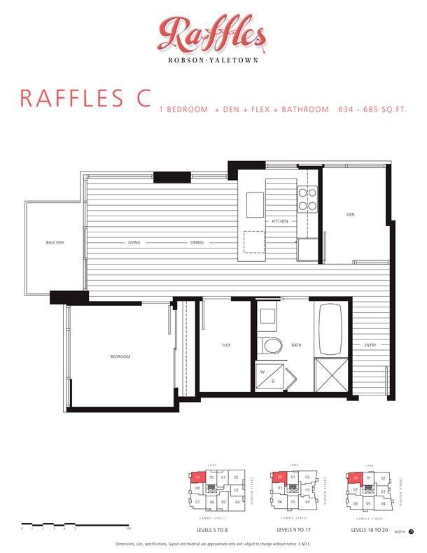 1 bedroom  den  flex  bathroom 634  685 sqft (PDF)