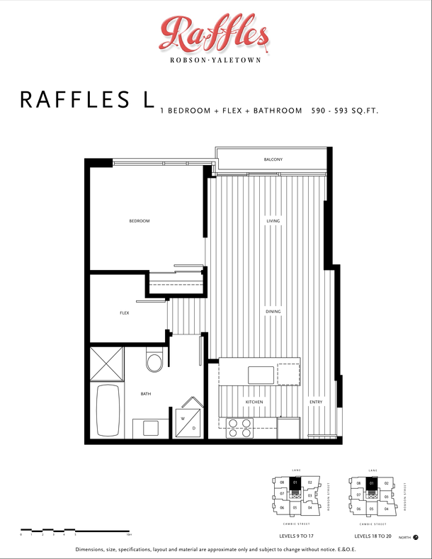 1 bedroom  flex  bathroom 590  593 sqft (PDF)