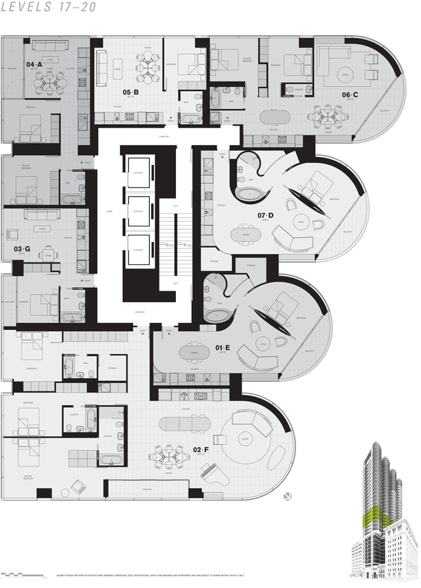 jameson level 17 to 20 floor plans (PDF)