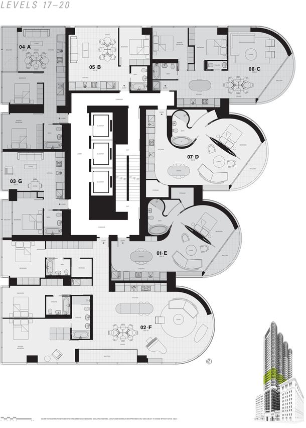 jameson level 17 to 20 floor plans (PDF)