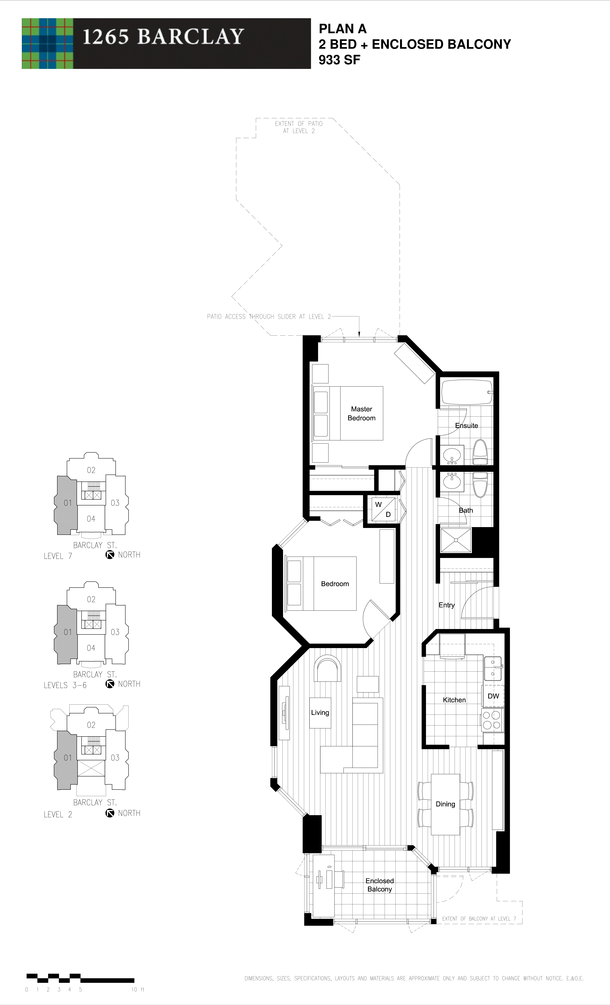 2 bedroom 933 sf (PDF)