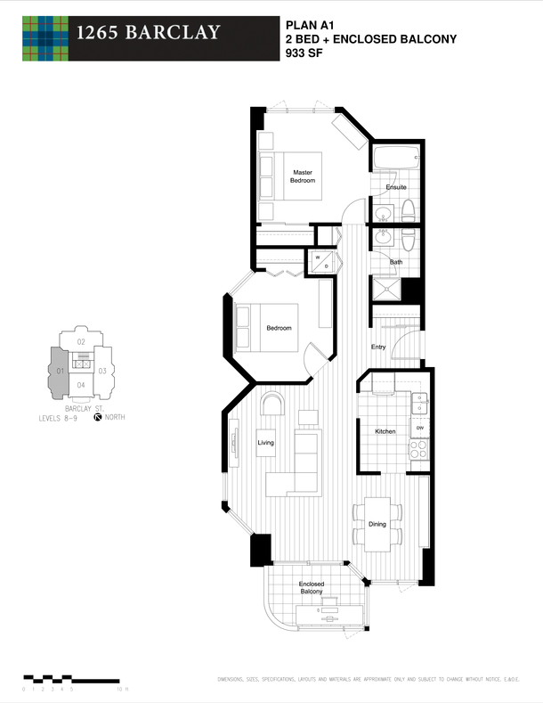 2 bedroom 933 sf level 8 and 9 (PDF)