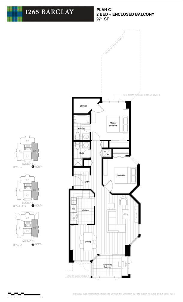 2 bedroom 971 sf (PDF)