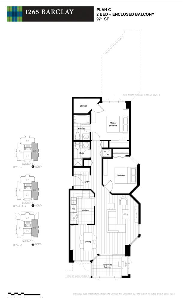 2 bedroom 971 sf (PDF)