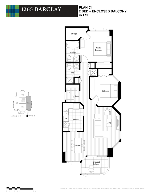 2 bedroom 971 sf level 8 and 9 (PDF)